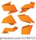 banner, vector, origami 41786725