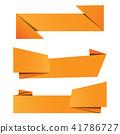 banner, vector, origami 41786727