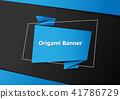 banner, vector, origami 41786729