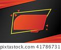 banner, vector, origami 41786731