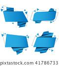 banner, vector, origami 41786733