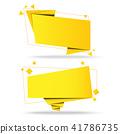 banner, vector, origami 41786735