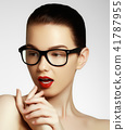 fashion, woman, face 41787955