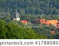 The village Herleshausen in the Werra valley 41788080