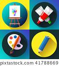 Fine arts icon set in black 41788669