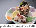 章魚 蠑螺貝 生魚片 41791584