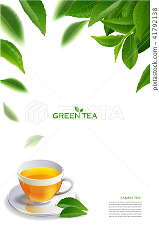 Black tea leaves in motion on white background. 41792138