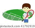 网球 网球场 儿童 41792919