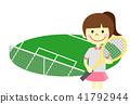 网球 网球场 儿童 41792944