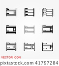 Bunk bed icon vector signs isolated on background 41797284