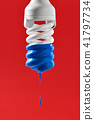 Bulb with blue paint on it 41797734