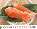 เนื้อปลาแซลมอน 41799481