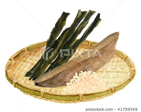 海帶 昆布 柴魚 41799569