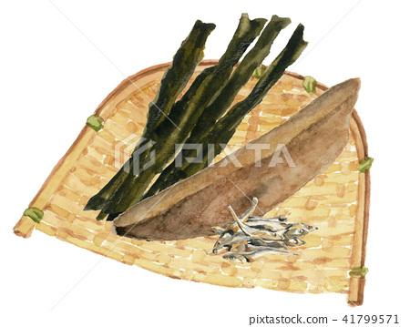 Kombu with bonito sashimi 41799571