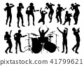 Musician Group Silhouettes 41799621