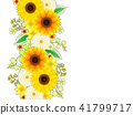 Sunflower and dahlia frame 41799717