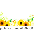 Sunflower and dahlia frame 41799730