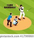 Baseball Isometric Illustration 41799960