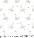 Swan cute kids simple seamless vector pattern. 41800057