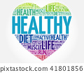 HEALTHY heart word cloud 41801856