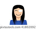 Medicine plaster patch on woman injury wound eye 41802092