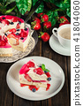 Cheesecake with strawberries, blueberry and jelly 41804060