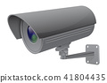 Security camera. Gray CCTV surveillance system 41804435