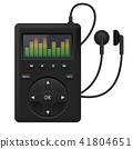 Audio player. Music device with headphones 41804651