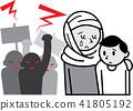 Muslim mothers receiving exclusion demo 41805192