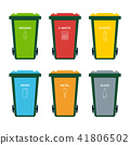 Garbage bin set for recycling waste. . 41806502