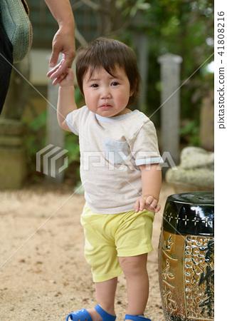 가족 유아 원아 아기 1 세 41808216
