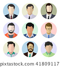 Male avatar human faces vector illustration. 41809117