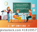 Music Lesson Cartoon Illustration 41810957