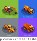 Building Vehicles Isometric Design Concept 41811366