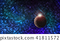 Space scene background with a planet in the frame and nebula 41811572