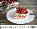 Strawberry tiramisu with mascarpone and blueberry 41812888