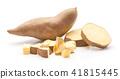 Fresh raw sweet potato isolated on white 41815445