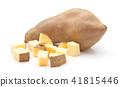 Fresh raw sweet potato isolated on white 41815446