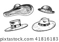 hat, vintage, vector 41816183