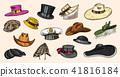 hat, vintage, vector 41816184