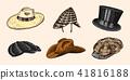 hat vintage vector 41816188