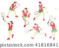 網球員的例證畫與蠟筆 41816841