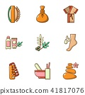 Sauna icons set, cartoon style 41817076