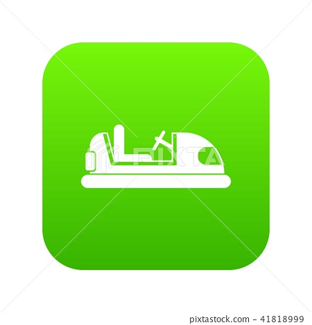 Toy car icon digital green 41818999