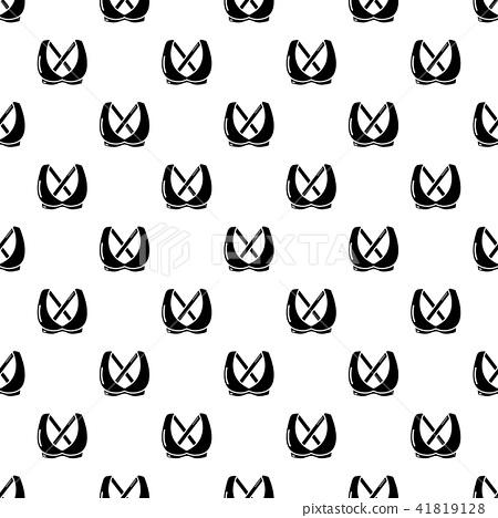 Brassiere fashion icon, simple black style 41819128