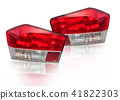 Car tail lights that are separate from the backgro 41822303