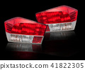 Car tail lights that are separate from the backgro 41822305