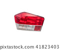 Car tail lights that are separate from the backgro 41823403