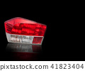 Car tail lights that are separate from the backgro 41823404