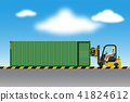 Logistics warehouse and loading dock 41824612